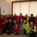 Drupon Rinpoche with Sangha and students