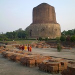 The Dharmek Stupa built by Ashoka on the spot where the Buddha gave his first teaching after his enlightenment
