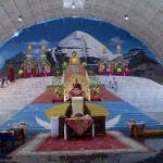 The stage of the Tergar Monastery Pavilion where HH Karmapa gave teaching