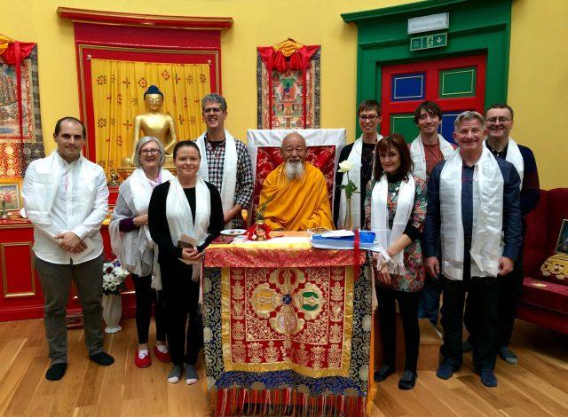 Dharma practitioners take Refuge