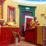 Buddha and Lama Yeshe Rinpoche in Shrine Room
