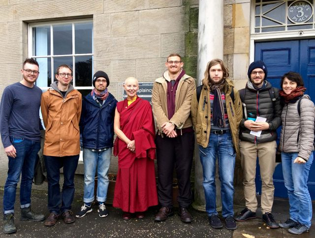 Ani Rinchen Khandro on a recent visit to St. Andrew's University Buddhist Society