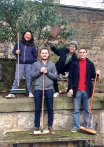 Members of The University of Edinburgh Buddhist Society kindly volunteering at KSDE.
