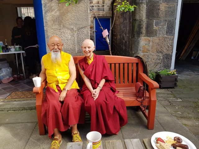 Lama Yeshe Rinpoche and Ani Rinchen Khandro, May 2019