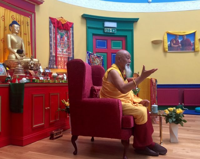 Lama Yeshe Rinpoche teaching, 2019