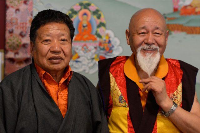 Akong Rinpoche and Lama Yeshe Losal Ripoche